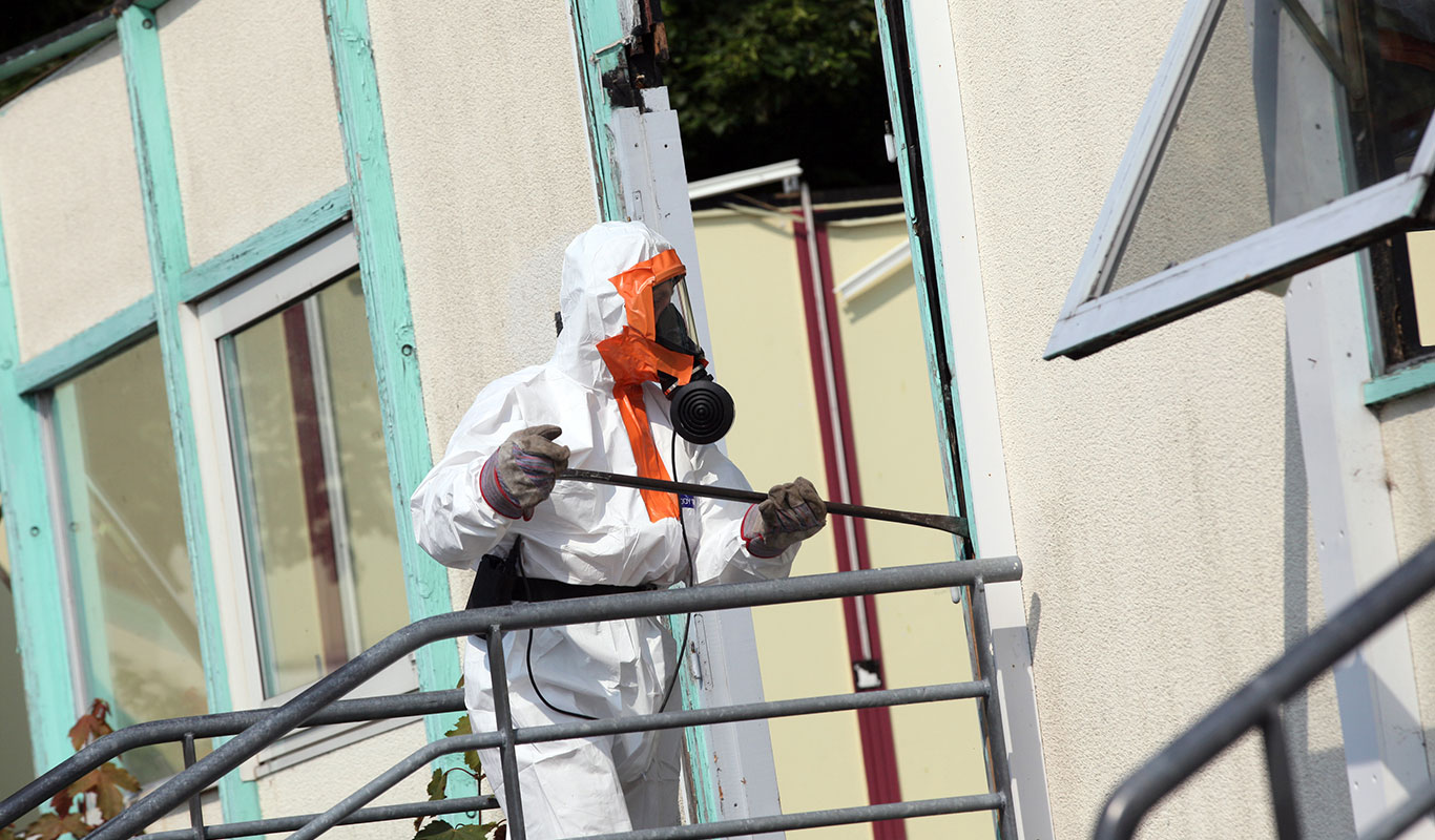 Asbestos Exterior Wall Cladding Removal